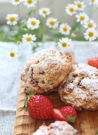 Strawberry Cream Scone